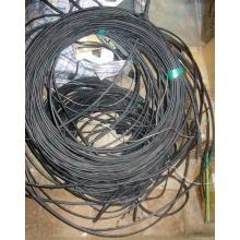 Оптический кабель Б/У для внешней прокладки (с металлическим тросом) в Костроме, оптокабель БУ (Кострома)